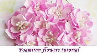 Foamiran Handmade Flowers - Tutorial By Ola Khomenok