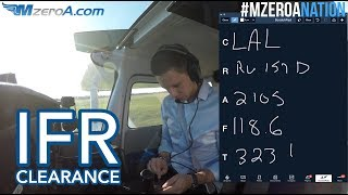Copying an IFR Flight Clearance - MzeroA Flight Training