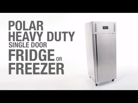 Video Polar RVS koelkast - 650 liter - U632