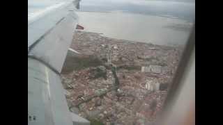 Посадка в Лиссабоне. Рейс Москва-Лиссабон  Aterrizaje en Lisboa. Vuelo Moscú - Lisboa