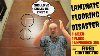 Laminate Flooring Disaster - Bad Contractor Ruins Floor - We Fix Problems - Before & After JobTour
