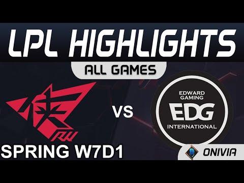 RW vs EDG Ziv吶兒不太行 2021 LPL春季賽Highlights