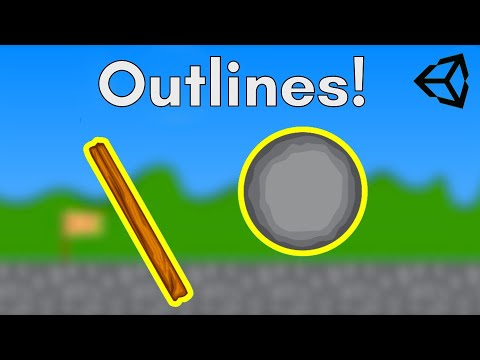 Sprite outline shader using Shader Graph in Unity - tutorial - Stone