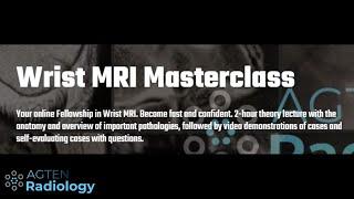 Wrist MRI Masterclass