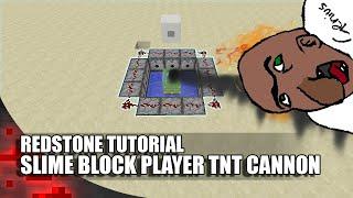 Minecraft: Slime Block Player TNT Cannon! (80 Blocks High!)