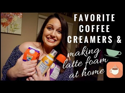 BEST COFFEE CREAMERS & HOW TO MAKE FOAMY LATTES AT HOME | LATTES LIKE STARBUCKS | MRSPETESHOUSE