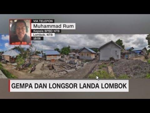 Gempa dan Longsor Landa Lombok