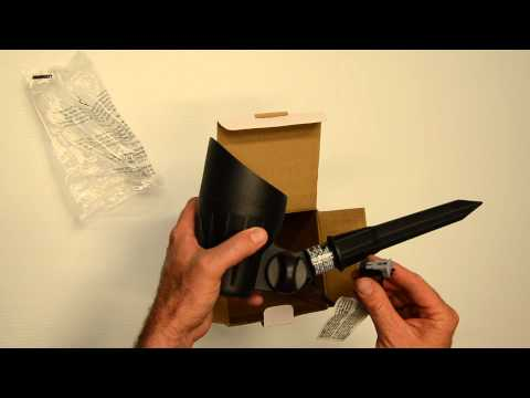 Outdoor LED Malibu 8401-2650-01 50 watt flood light unboxing