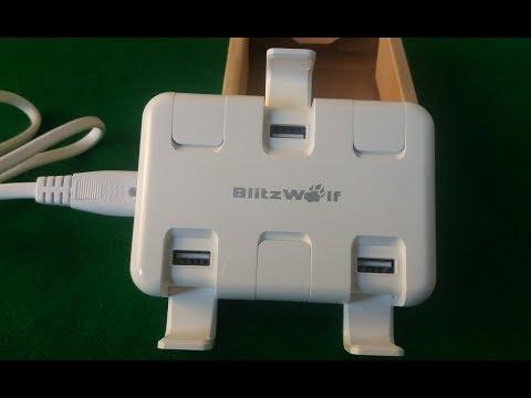 BlitzWolf BWS4 50W/ USB зарядний пристрій на шість портів/Плюси і міну