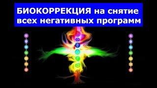 БИОКОРРЕКЦИЯ на снятие всех негативных программ. Н. ПЕЙЧЕВ