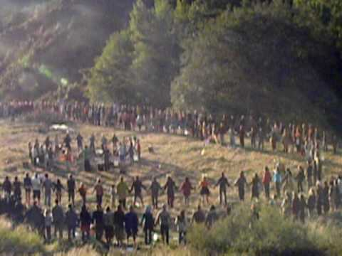 New Zealand Rainbow gathering circleing