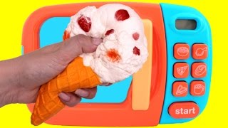 Giant Squishy Ice Cream Cone!! Learn Colors for Kids RL