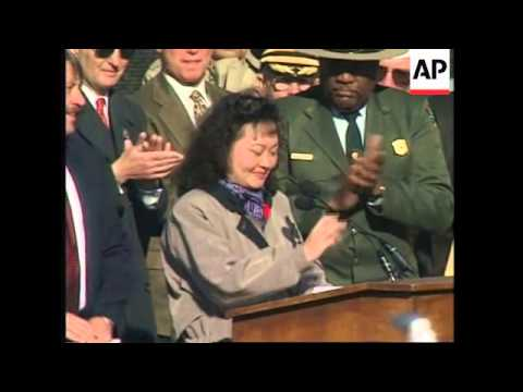 USA: WASHINGTON: PHAN THI KIM PHUC SPEAKS AT REMEMBRANCE SERVICE - AP Archive