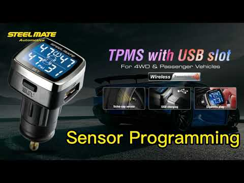 STEEL MATE Universal Wireless Tire Pressure Monitoring System, 4 Advanced External Tmps Sensors, Real-time Alarm Function