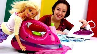 Видео для детей про Барби. Новый утюг. Веселая школа