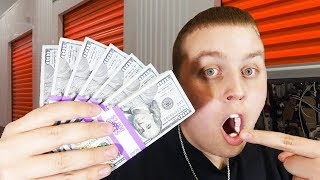 Finding Money In Storage Unit! Over $1,000 Cash in $70 Unit! I Bought An Abandoned Storage Unit