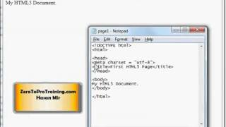 HTML5 Training Series (HTML 5) - Tutorial 3 - Character Set / Character Encoding
