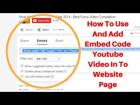 How to use and add Embed code Youtube Video into Website page