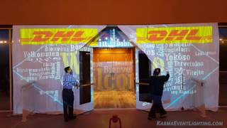 Animated Gobos & Projection Mapping by Karma Event Lighting