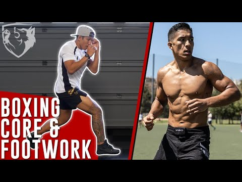 Solo Boxing Training for Core Strength & Footwork - YouTube