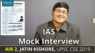 AIR 2, Jatin Kishore | Civil Service Exam 2019 Result | UPSC Topper | Rau's IAS GSI student - Download this Video in MP3, M4A, WEBM, MP4, 3GP