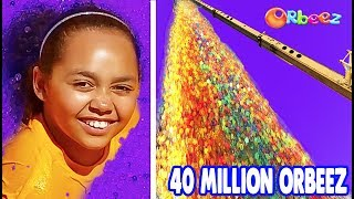 40 MILLION ORBEEZ 100FT DROP TEST! Toys AndMe