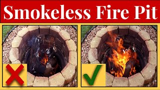 🔥Adding A Bilge Blower To Stoke Flames & Reduce Smoke - In Ground Fire Pit