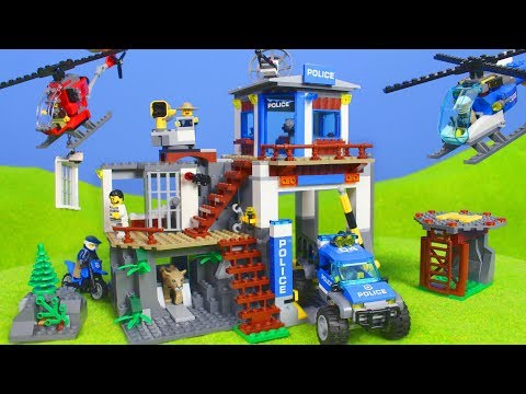 LEGO Polizei: Neue Polizeistation & Spielzeugautos für KINDER | City Polizeiauto Unboxing
