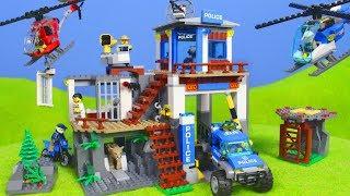 LEGO Polizei: Neue Polizeistation & Spielzeugautos für KINDER   City Polizeiauto Unboxing