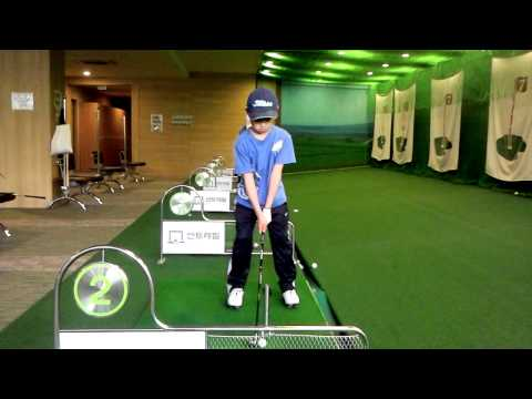 Junior Golf Swing 8Years Old Korean Boy(Front)