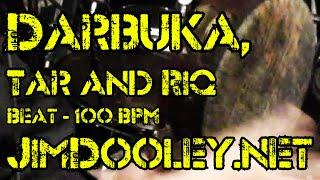 Tar, Riq and Darbuka Beat 100 BPM JimDooley.net