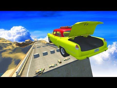 BeamNG Drive - Satisfying High Speed Open Bridge Jumps #16