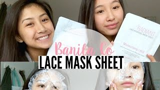Banila Co Lace Masks! Review/Demo + Peach & Lily | THAI-ING IT OUT