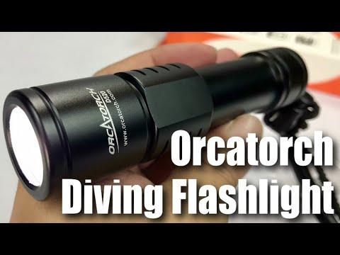 ORCATORCH D520 Scuba Diving Flashlight 1000 Lumen LED Light Review