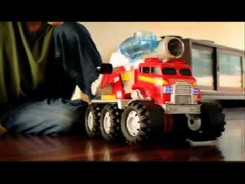 Večerníček - Mluvící hasičské auto Smokey - Matchbox od Mattel - video CZ