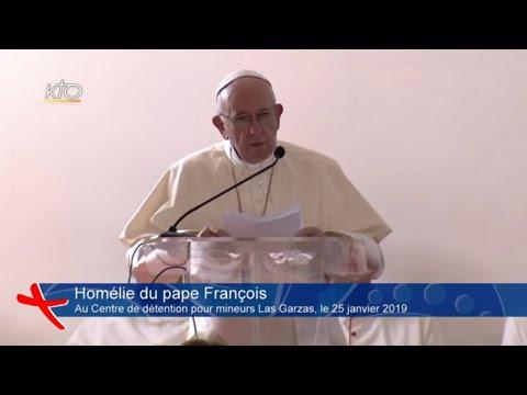 L'homélie du pape François devant de jeunes détenus