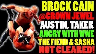 Cain Velasquez Vs Brock Lesnar At WWE Crown Jewel 2019 Sasha Banks The Fiend Injured Wrestling News