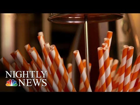 Paper Or Plastic? Inside The Heated Debate Over Drinking Straws | NBC Nightly News