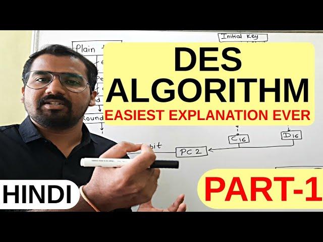 DES ( Data Encryption Standard ) Algorithm Part -1 Explained in Hindi l Network Security