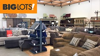 BIG LOTS SOFAS COUCHES SECTIONALS ARMCHAIRS HOME FURNITURE SHOP WITH ME SHOPPING STORE WALK THROUGH