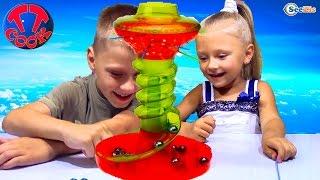 Челлендж от Ярославы и Игорька! Веселая игра для детей. Game for Kids KerPlunk Challenge