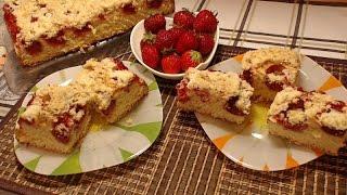 Puszyste Ciasto Drożdżowe z Truskawkami