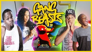 HANGING ON FOR DEAR LIFE!! - Family Beatdown 12 Pt.2 I Gang Beasts Gameplay