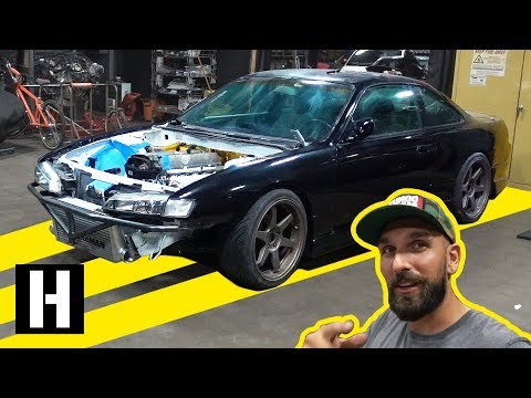 1JZ Swapped S14 Gets Some Fabrication Work. Single GTX3076!