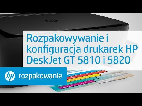 Rozpakowywanie i konfiguracja drukarek HP DeskJet GT 5810 i 5820