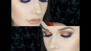 Super Bowl Makeup | Blue and Orange 2016 Tutorial