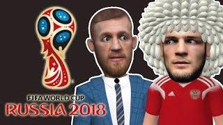 Conor McGregor and Khabib Nurmagomedov attends Russia World Cup Final