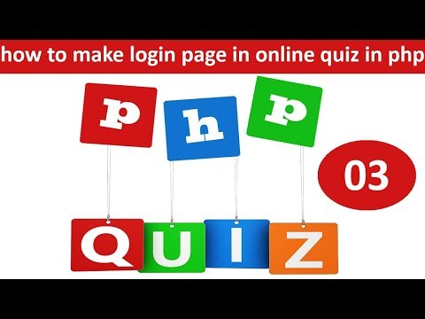 how to make login page in  online quiz in php