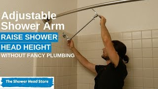 How to Install an Adjustable Shower Arm to Raise or Lower the Height of Your Shower Head