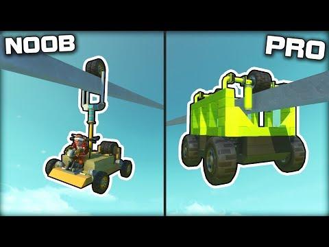 NOOB vs PRO Monorail Racing! (Scrap Mechanic Gameplay)